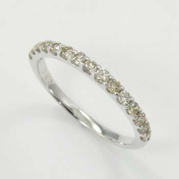 ライトブラウンダイヤモンド ハーフエタニティ リング 0.3カラット 10金(K10) 10金(K10)ホワイトゴールド 10金(K10)ピンクゴールド の3種類ございます 送料無料