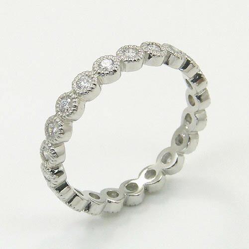 プラチナ(Pt900) ダイヤモンド フルエタニティ リング 0.45カラット typeAAAA 送料無料 代引手数料無料