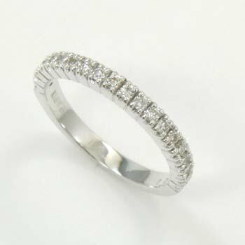 10金(K10)ホワイトゴールド ダイヤモンド ハーフエタニティ リング 0.2カラット typeAAA 送料無料