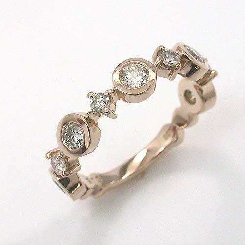 18金(K18)ピンクゴールド ダイヤモンド リング 0.4カラット typeAAA (リングサイズ9号) 送料無料 【即納(4日前後発送)】