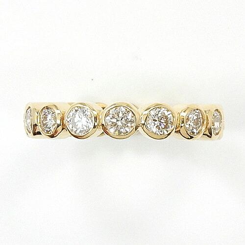 1.5ctフセコミフルエタニティ18金ゴールド ダイヤモンド リング1.5カラット typeAAAA