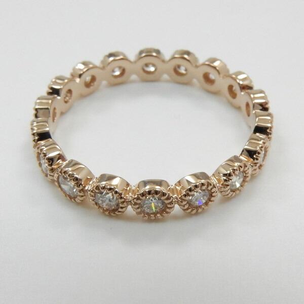 リング 18金 0.55カラット 送料無料 ダイヤモンド ホワイトゴールド 2種類ございます (K18) フルエタニティ typeAAAA (K18) 18金