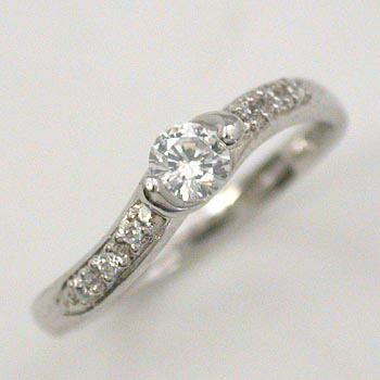 プラチナ(Pt900) ダイヤモンド リング 0.3カラット typeAAA 送料無料