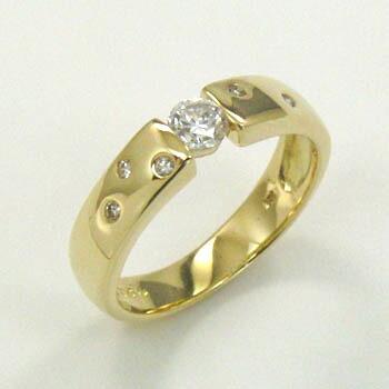 18金(K18) ダイヤモンド リング 0.25カラット typeAA 送料無料