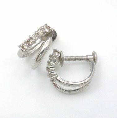 ダイヤモンドイヤリングプラチナ(PT900)天然ダイヤ イヤリングtypeAAA