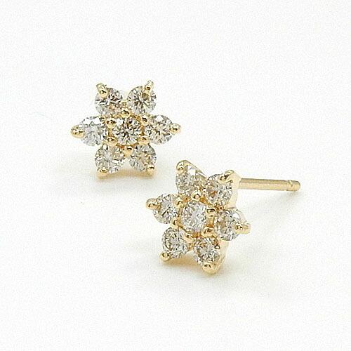 18金ゴールド(K18)/18金ピンクゴールド(K18PG)2種類からお選びいただけます。ダイヤモンド 0.15ctx2 ピアスtypeAAA(通常芯・シリコンキャッチ付)