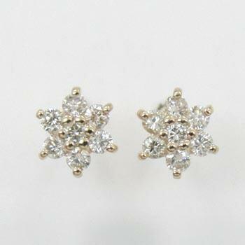 18金ピンクゴールド/18金ゴールド2種類からお選びいただけます。ダイヤモンド 0.15ctx2 ピアスtypeAAA(通常芯・シリコンキャッチ付)【送料無料】