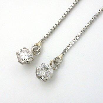 プラチナ(PT900) ダイヤモンド 0.1ctx2(アメリカンタイプ)typeAAA