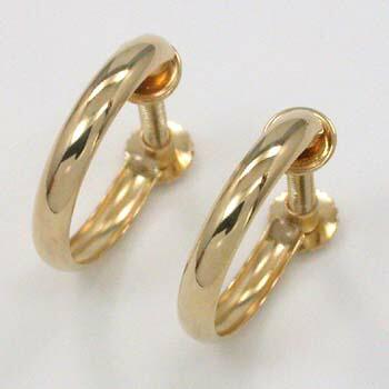 18金ゴールド、ホワイトゴールド(K18/K18WG)2種類からお選びいただけます。地金イヤリング