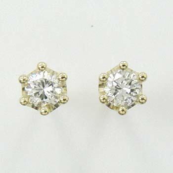 18金ゴールド/18金ホワイトゴールド2種類からお選びいただけます。ダイヤモンド 0.13ctx2 ミルククラウンピアスtypeAAAA(太さ0.9mmx長さ10mm芯・シリコンキャッチ付)