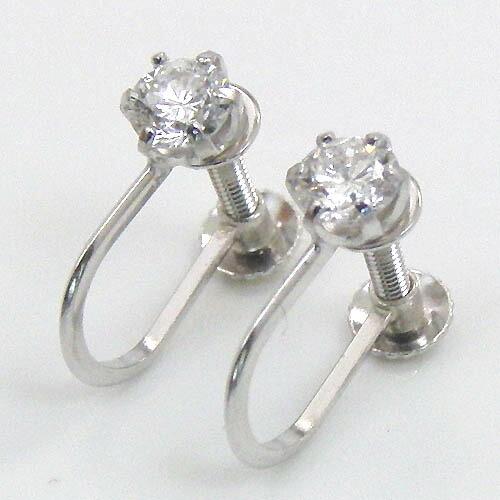 2020人気の プラチナ(Pt900) ダイヤモンド 0.2カラットx2石 六本爪 イヤリング typeAA, アクセサリーショップFIGMART da6ecac8