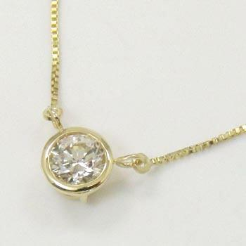 18金ゴールド ライトブラウンダイヤモンド0.33カラット ペンダント ネックレス送料無料