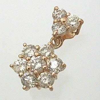 18金ピンクゴールド/18金ゴールド2種類からお選びいただけます。ダイヤモンド0.5ct ペンダントヘッドtypeAAA【送料無料】【即納(4日前後発送)】
