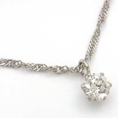 プラチナ(PT900)ダイヤモンド0.2カラットSI1クラリティHカラー天然ダイヤ 0.2ct ペンダントネックレス