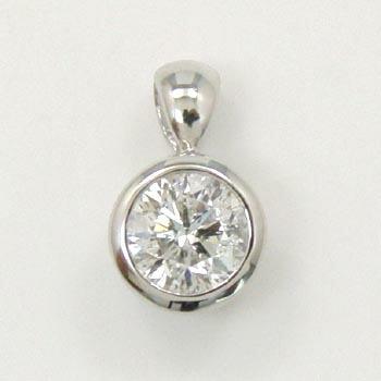 プラチナ(Pt900) ダイヤモンド(I1 G) 0.3カラットペンダントヘッド(簡易鑑定カード付)送料無料