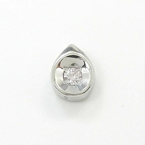 18金ホワイトゴールド ピンクダイヤモンド 0.03ct ペアシェイプ ペンダント送料無料