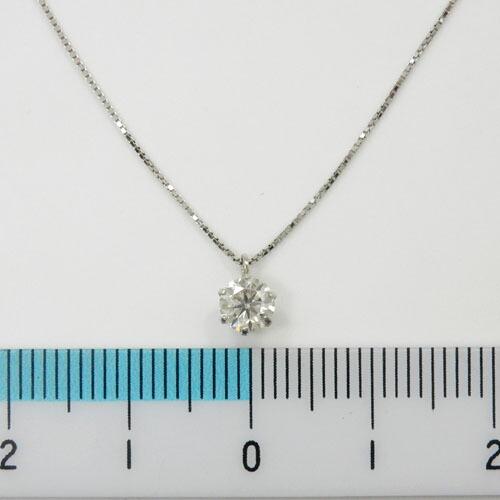 ダイヤモンド(I1・H) 0.35カラット プラチナペンダント ネックレス(ベネチアンチェーン40cm)(Pt900 Pt850 0.35ctPN)送料無料