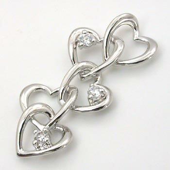 ダイヤモンド ハートモチーフペンダントヘッドtypeAAA18金ホワイトゴールド/18金ピンクゴールド2種類からお選びいただけます。