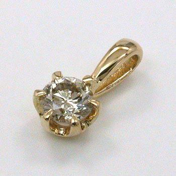 ライトブラウンダイヤモンド 0.2カラットペンダントヘッド18金ゴールド(K18)/18金ホワイトゴールド/18金ピンクゴールド 3種類からお選びいただけます。送料無料