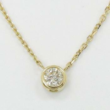 18金ゴールド(K18)ダイヤモンド 0.25ct ペンダントネックレスtypeAA