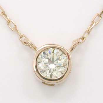 18金ピンクゴールド(K18PG)ダイヤモンド0.25ctペンダントネックレスtypeAA