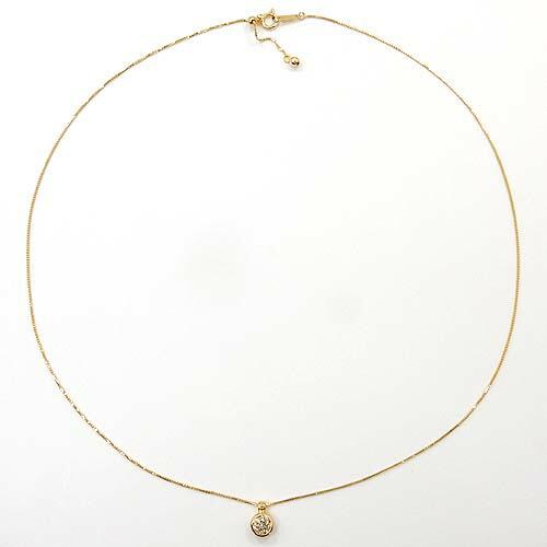 18金ゴールド(K18) ライトブラウンダイヤモンド0.5カラット ペンダント ネックレス【送料無料】【即納(4日前後発送)】