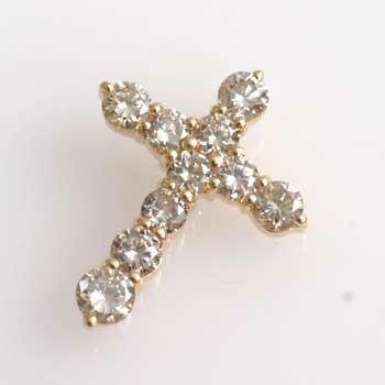 18金1カラットダイヤモンド(K18)1ct天然ダイヤモンドクロスヘッドtypeAA