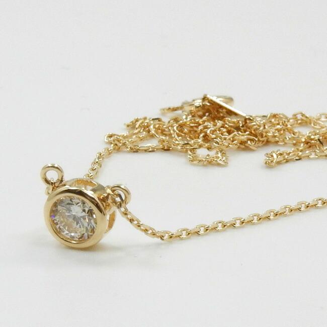 あす楽 18金ゴールド(K18) ダイヤモンド 0.25ctペンダント ネックレス typeAA送料無料