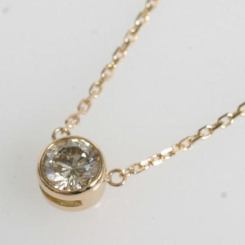 18金ゴールド(K18)ダイヤモンド0.5ct Aクラスペンダントネックレス【送料無料】【即納(4日前後発送)】