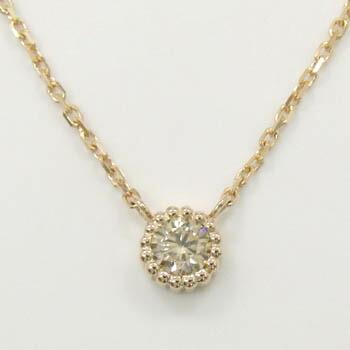18金ゴールド(K18)ライトブラウンダイヤモンド0.25カラット ペンダントネックレス