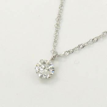 プラチナ(Pt900)ダイヤモンド0.23カラット(SI2)Iカラーペンダントネックレス送料無料