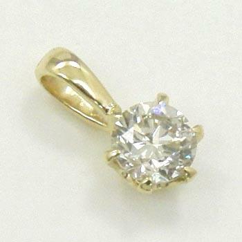 ダイヤモンド 0.35カラット(I1クラリティ Gカラー)18金ゴールド/18金ピンクゴールドぺンダントヘッド2種類よりお選びいただけます。送料無料