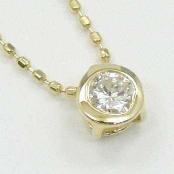 18金(K18)ダイヤモンド0.17カラットペンダントネックレスTypeAAAA