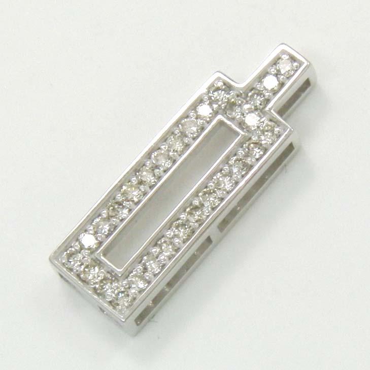 18金ホワイトゴールドダイヤモンド0.25カラットペンダント ヘッド typeAA