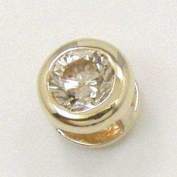 10金(K10) ライトブラウンダイヤ 0.3ctリバーシブル(つや消しタイプ)ペンダントヘッド