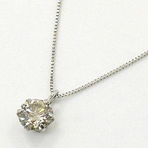 10金 ライトブラウンダイヤモンド 0.4カラット(0.4ct)ペンダント ネックレス送料無 即納(4日前後発送)