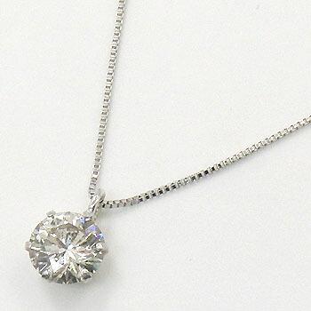 18金ホワイトゴールド(K18WG) ダイヤモンド 0.4カラット(I1・Hカラー)ペンダントネックレス