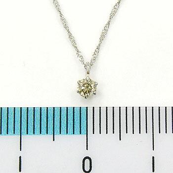 0.18カラット18金ホワイトゴールドダイヤモンド0.18ctペンダント ネックレス(チェーン長さ40cm)送料無料