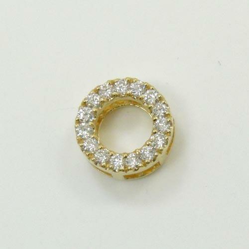 0.3カラット・VS2クラリティ・Hカラー18金ゴールド ダイヤモンド ペンダントヘッド(リバーシブル・組み合わせ様々)