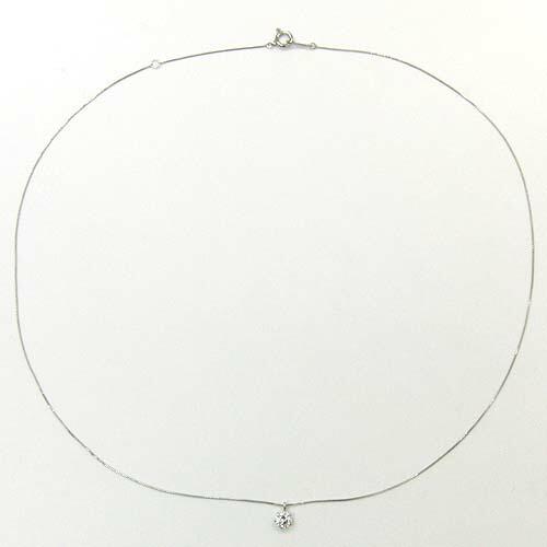 Pt999 天然ダイヤモンド0.23ct( VS2・H/簡易鑑定カード付) ネックレス(チェーン幅0.5mm・長さ40cm)送料無料【R】