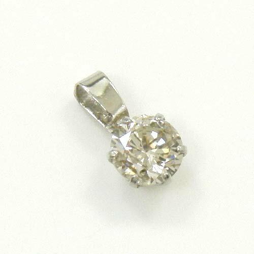 プラチナ ベリーライト ブラウン ダイヤモンド0.4ct(SI2クラリティ-) ペンダントヘッド 送料無料