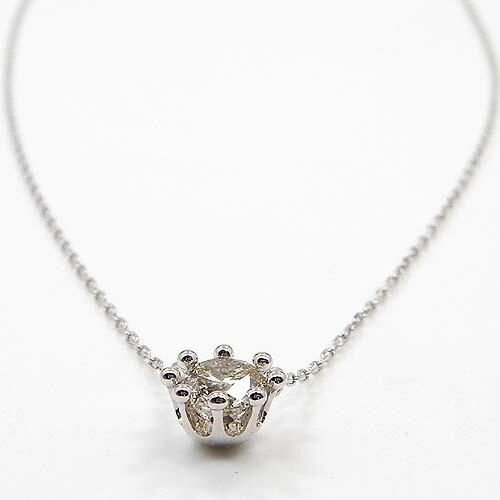 10金 ホワイトゴールド ダイヤモンド 0.8ct ネックレス(K10WG ダイヤ 0.8カラット) 送料無料