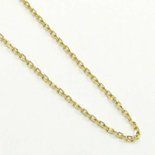 50センチ 1.15ミリ幅 小豆チェーン ネックレス(幅1.15mm・長さ50cm/長さ調整可能)18金イエローゴールド(青金)/18金ホワイトゴールド2種類からお選びいただけます。送料無料