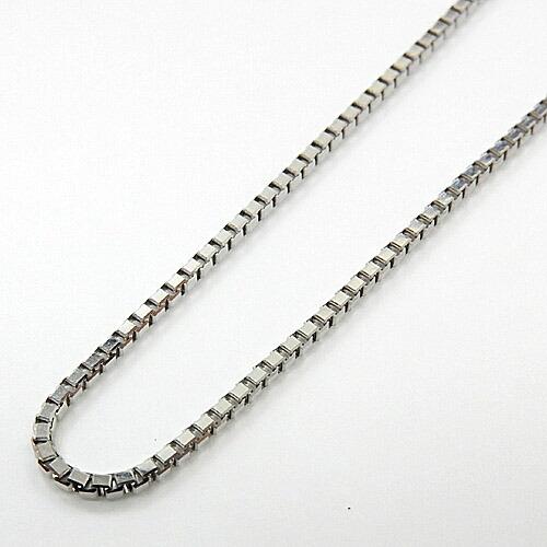 長さ60センチ プラチナ850(PT850)ベネチアン1ミリ ネックレスあす楽(幅1mm・長さ60cm/プレート3.5mm幅/長さ調整可能)5グラムアップ 送料無料