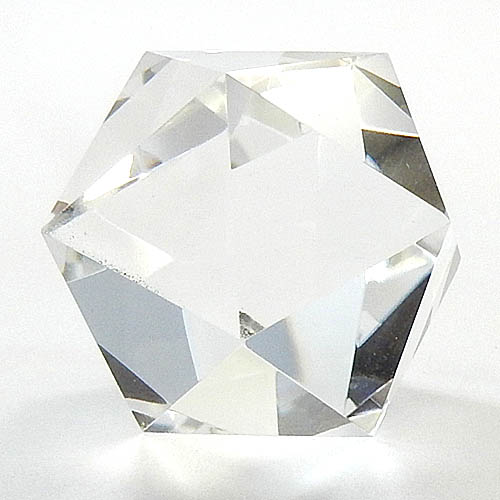 水晶 幸福 瞑想 クリスタル 100カラットアップ プラトン立体 手作り 送料無料 クリスタル 職人作品 正20面体 水晶110ct送料無料