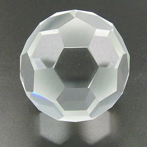 作品 Soccer Ball (切頂20面体) 水晶 250ctつや消し有り面体/ALL透明面体2種類からお選びいただけます。