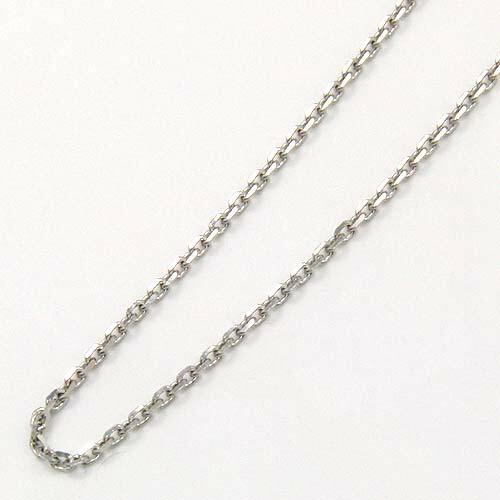 プラチナ(Pt850) 小豆チェーン ネックレス(幅1.38mm・全長45cm/長さ調節可能/オーバルパーツ)送料無料