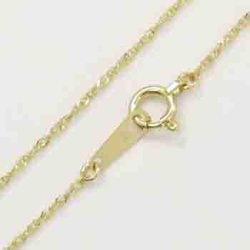 18金ゴールド(K18) Wスクリューチェーンネックレス(幅約0.7mm・全長40cm/AJ3cm下)