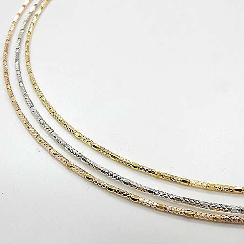 あす楽 オメガ形状 長さ45センチ 1.2ミリ18金ゴールド/18金ピンクゴールド/18金ホワイトゴールド3種類よりお選び下さい。あす楽 送料無料