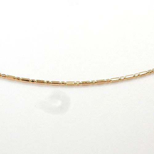 スライドピン オメガタイプ(長さ調整も可)18金ホワイトゴールド/18金ゴールド/18金ピンクゴールド3種類よりお選び下さい。 スモール&ロングボールチェーン(幅0.8mm長さ45cm)送料無料